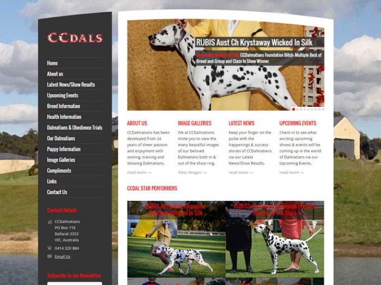 CCDalmatians - WordPress website