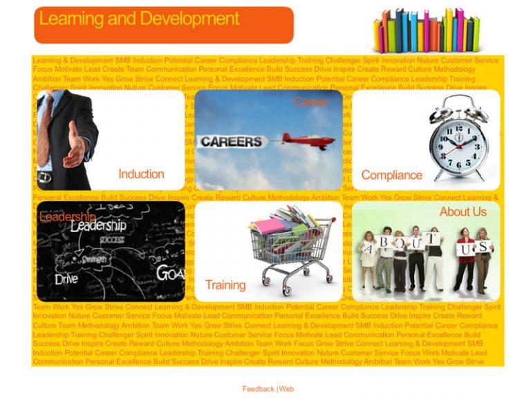 Optus Learning & Development - Flash/HTML website