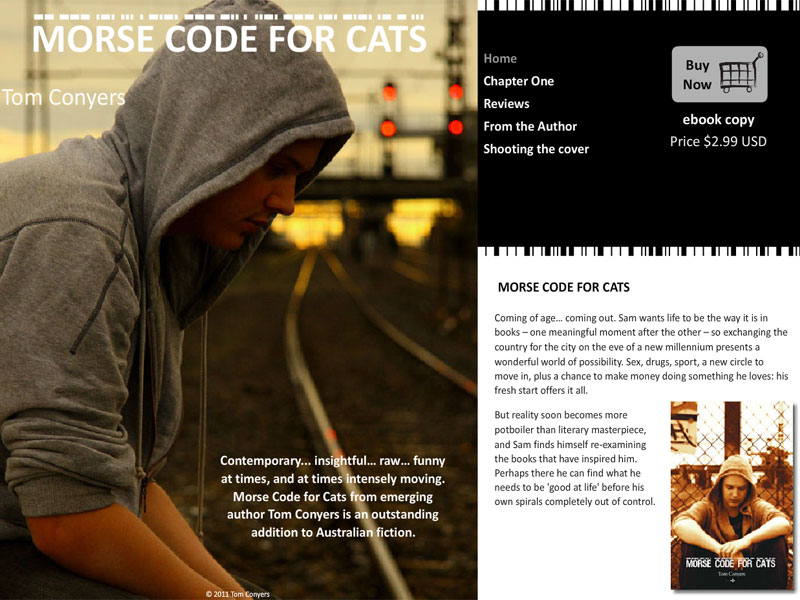 Morse Code For Cats Book - eCommerce Flash/PHP/HTML website