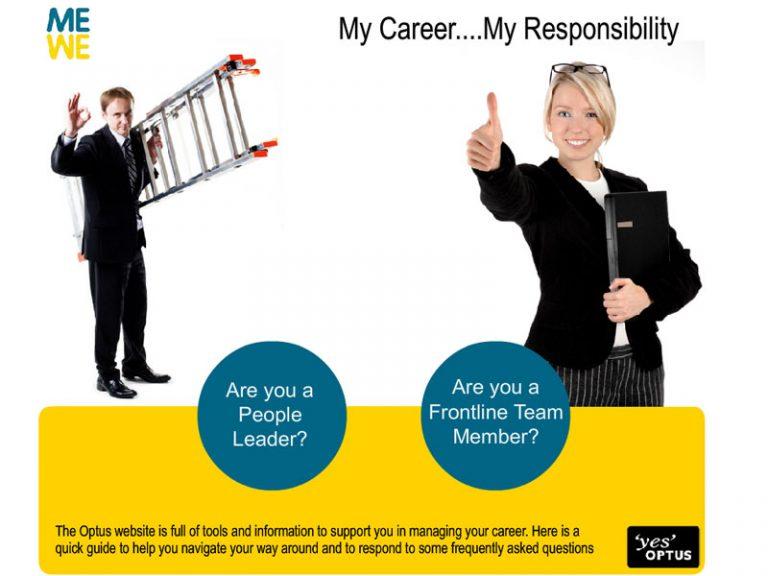 Optus My Career - Flash/HTML website