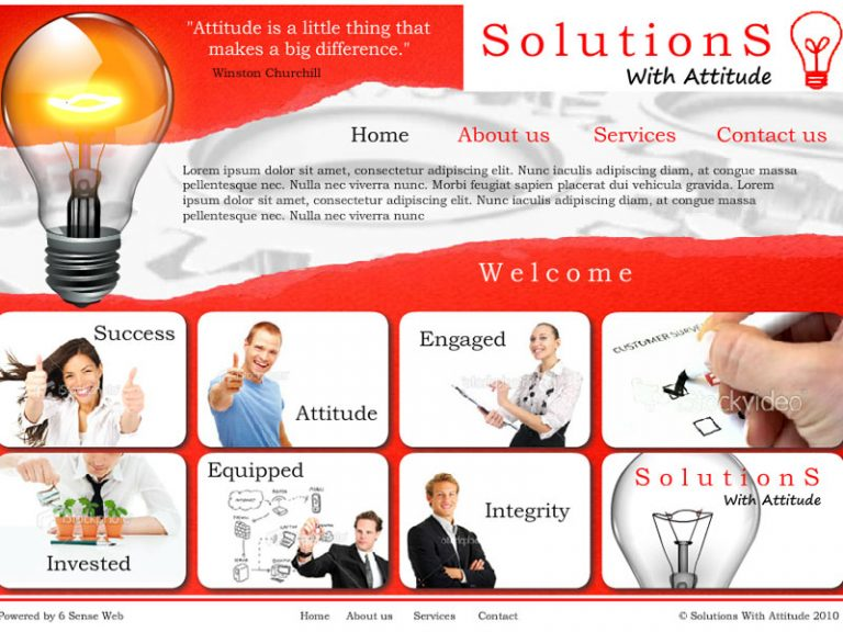 Solutions With Attitude - Flash/HTML website