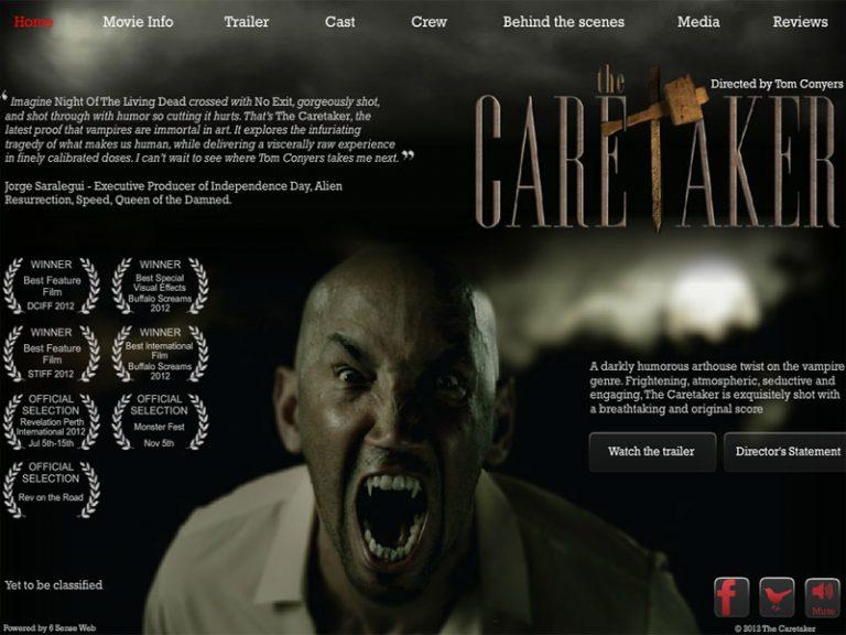 The Caretaker Film - Flash/PHP/HTML website