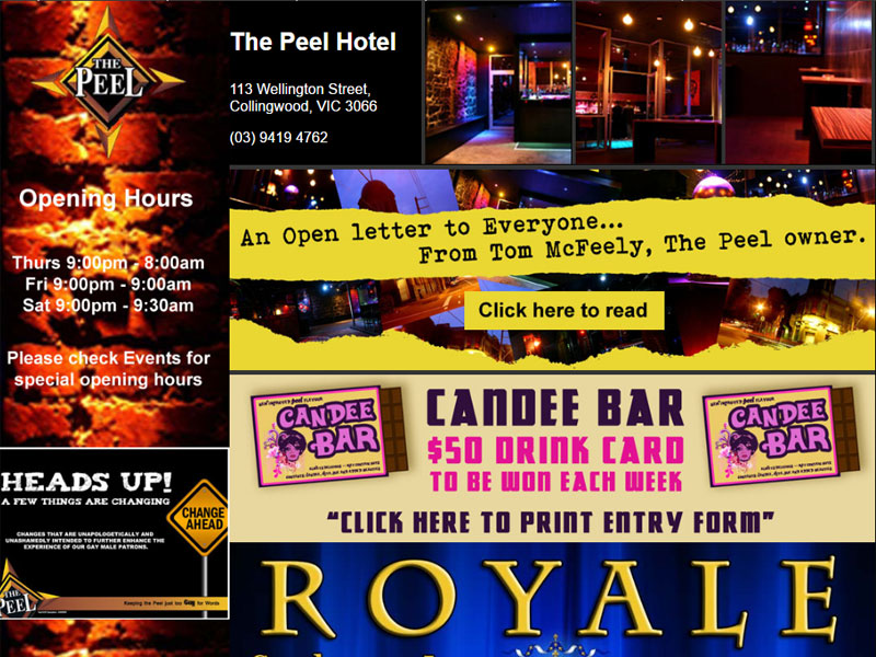 The Peel Night Club - HTML website