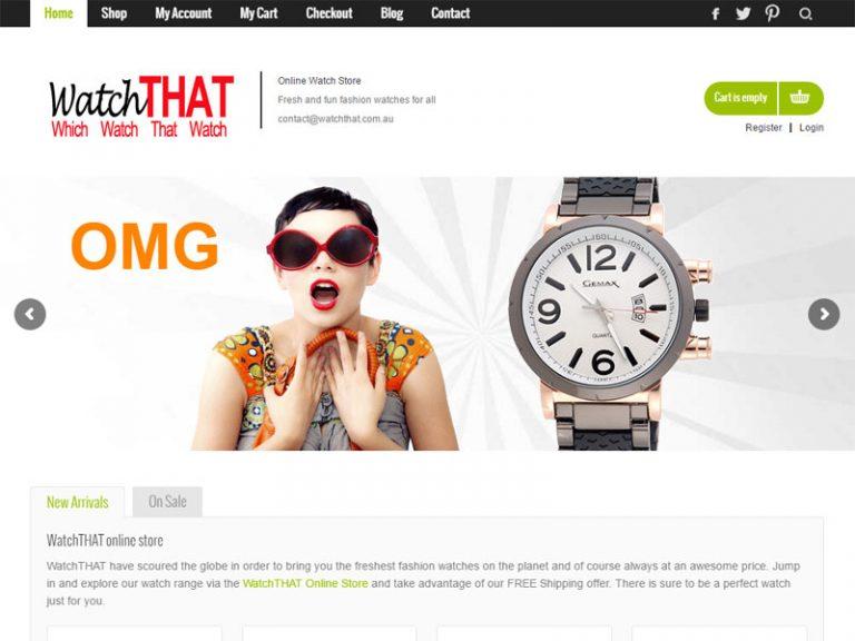 watchTHAT - WordPress eCommerce website