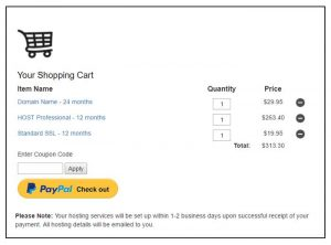 WP PayPal Shopping Cart Example