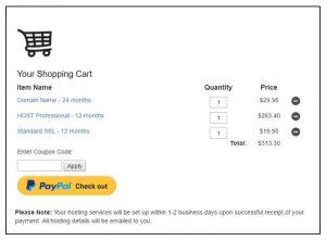 WP PayPal Shopping Cart Example